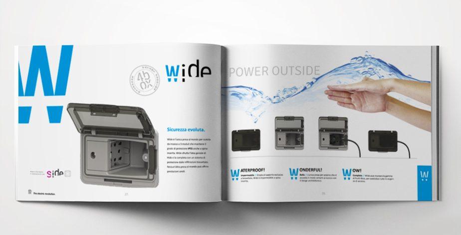 template per brochure esempio 4box