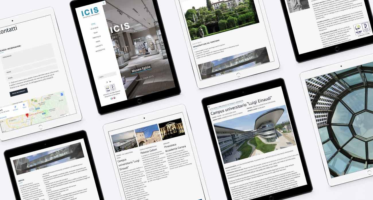 creazione sito web responsive di ICIS