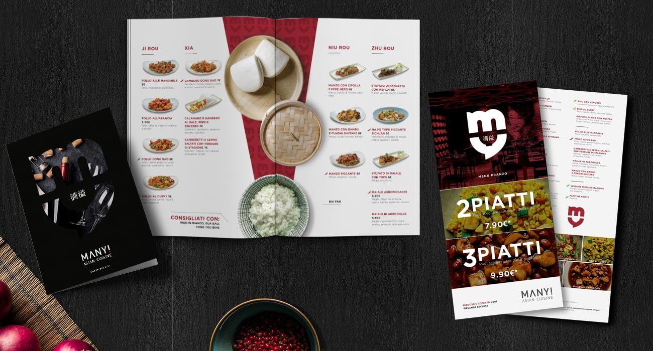 creazione menu di manyi