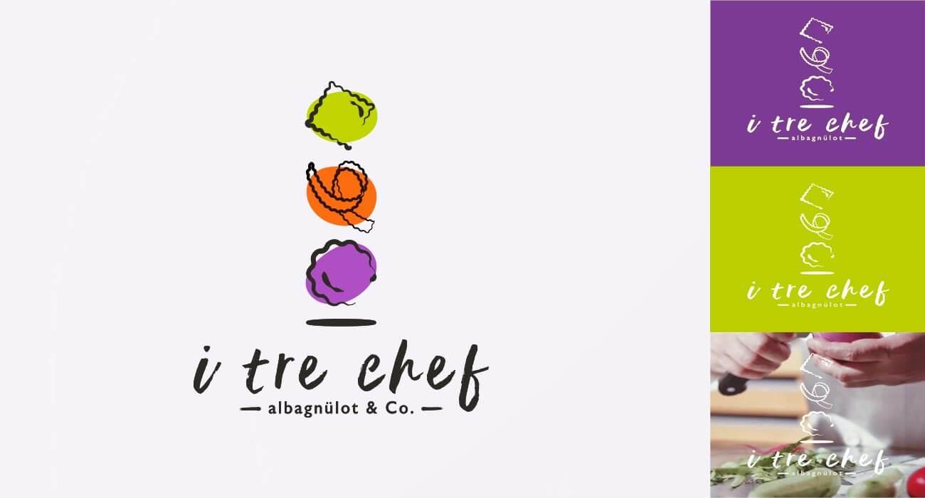 creazione logo dei tre chef