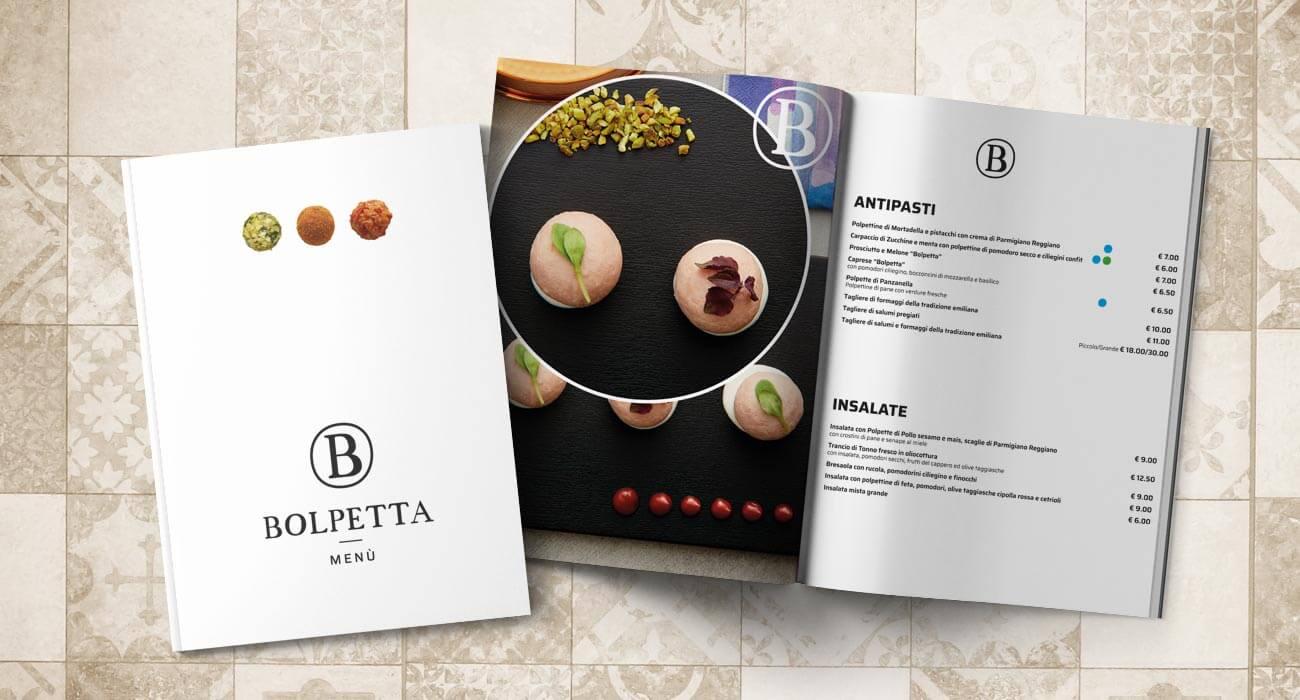 creazione del menu di Bolpetta