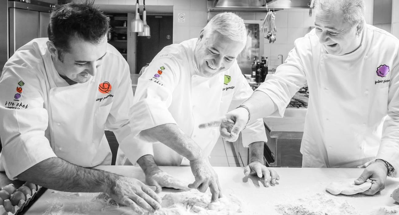 creazione merchandising dei tre chef