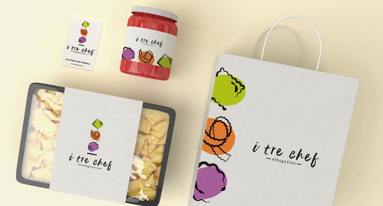 creazione packaging dei tre chef