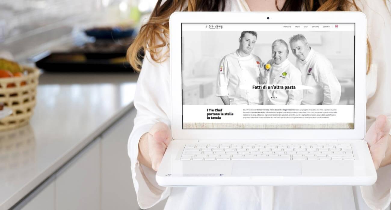 creazione sito web dei tre chef