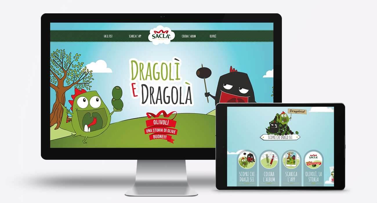 realizzazione sito saclà dragolì e dragolà
