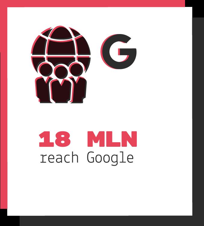18 milioni di utenti raggiunti su google