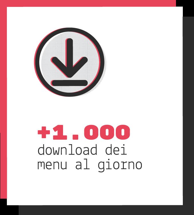 più di 1000 download dei menu al giorno