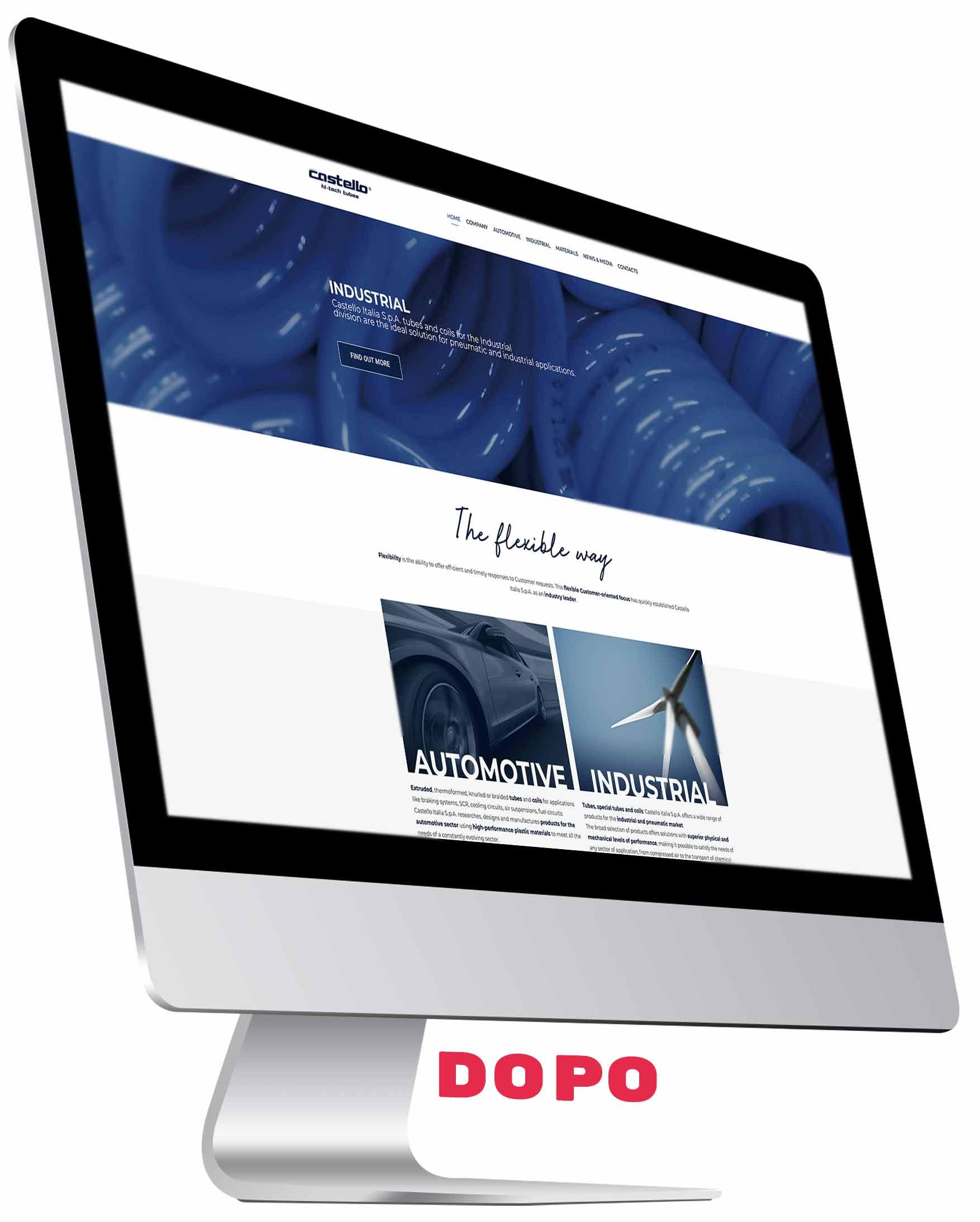 sito web prima del restyling