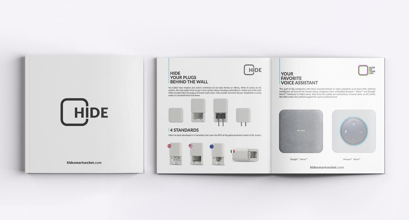 realizzazione brochure per hide