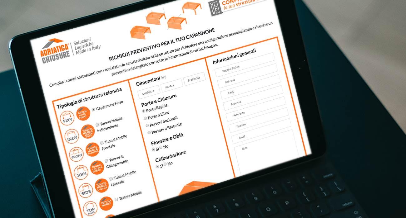 sviluppo configuratore per gli utenti di adriatica