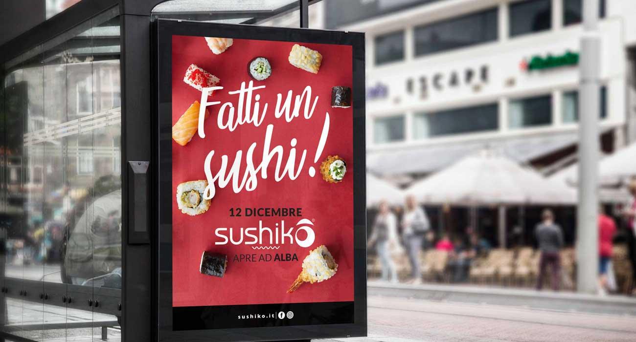 realizzazione affissioni per sushiko