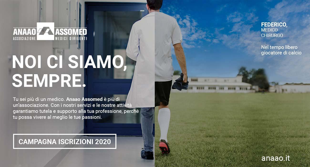 cliente Assomed Anaao portfolio di comunico group campagna di tesseramento 2020 medici